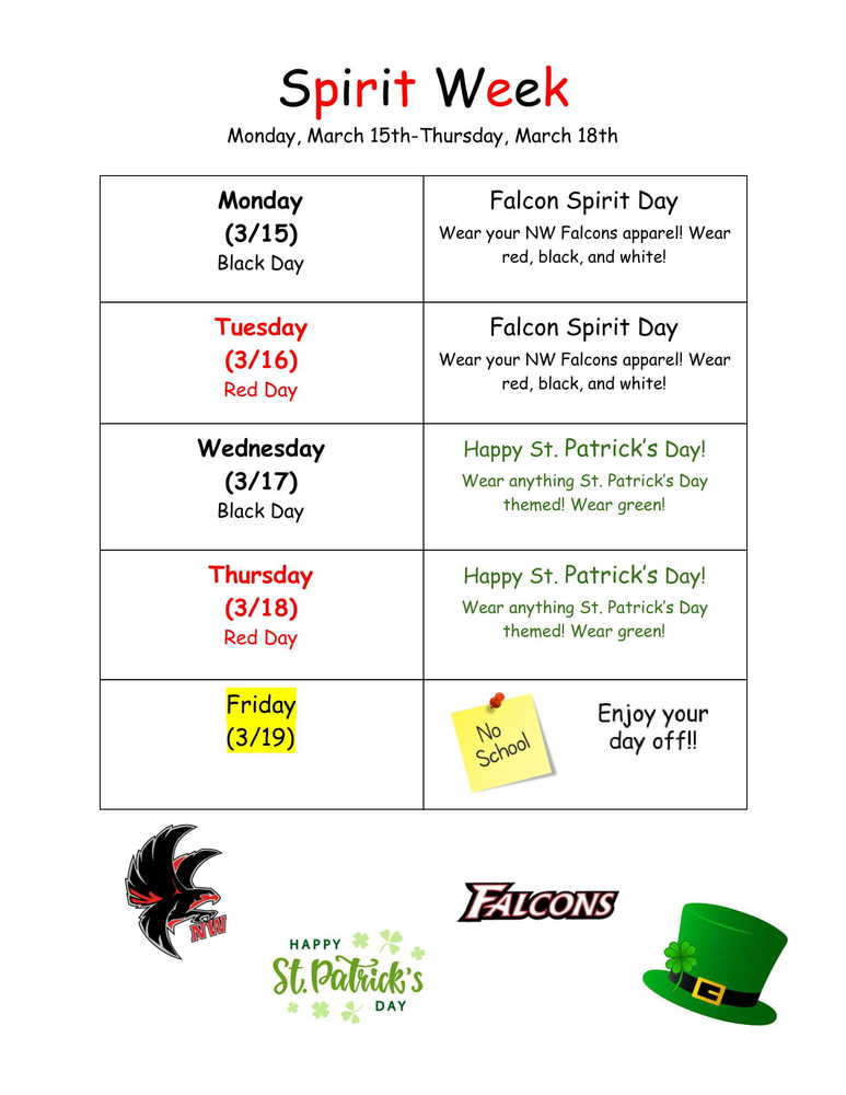 March Spirit Week